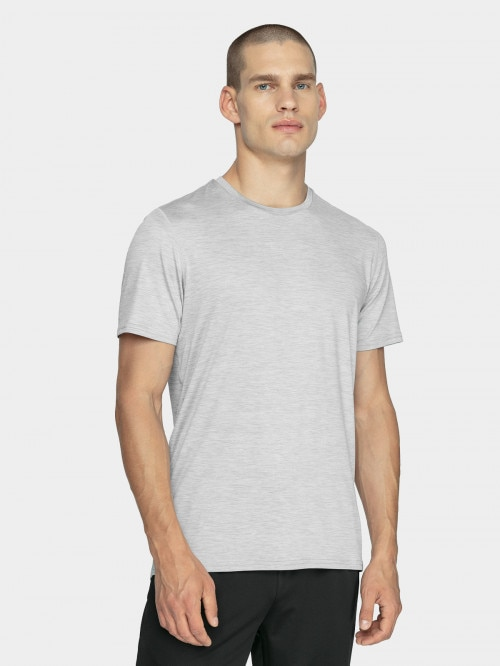 Men's active shirt TSMF600  cold light grey melange