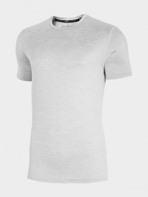 Men's active shirt TSMF600 - cold light grey melange