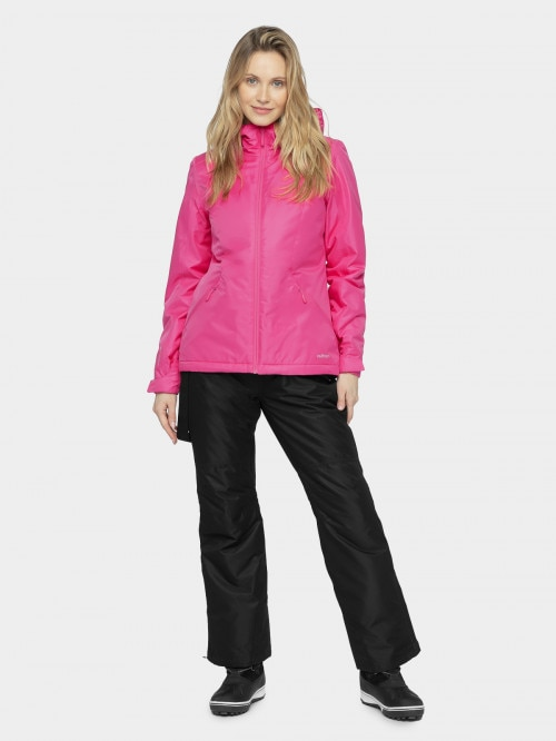 Women's ski jacket KUDN600 - hot pink