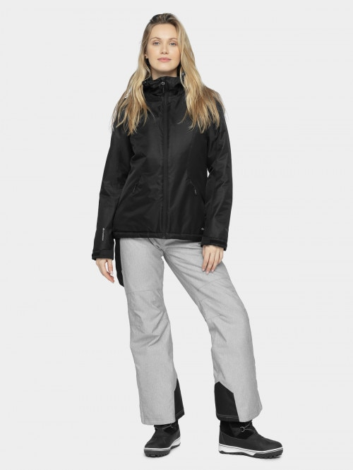 Women's ski jacket KUDN600 - deep black