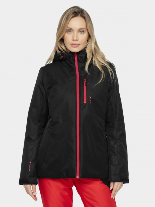 Women's ski jacket KUDN601  deep black