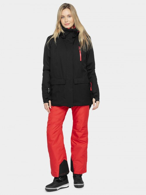 Women's ski jacket KUDn603 - deep black