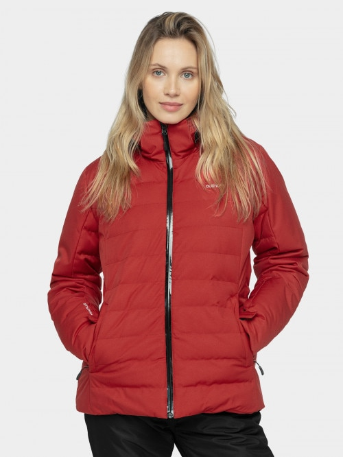 Women's ski jacket KUDN604  burgundy