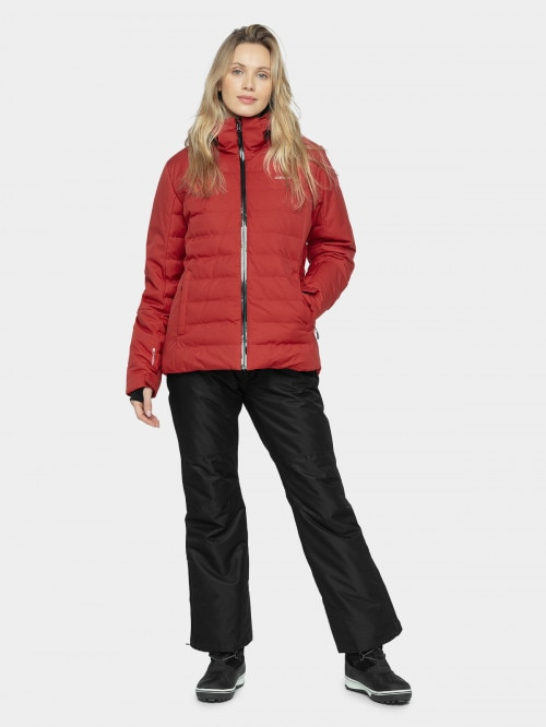Women's ski jacket KUDN604 - burgundy