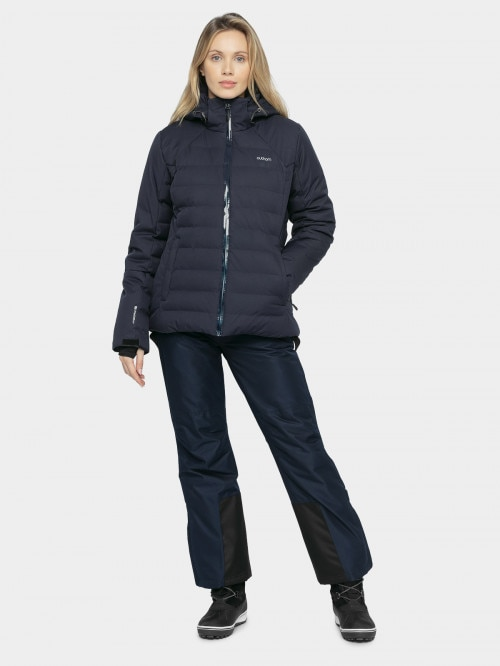 Women's ski jacket KUDN604 - dark blue