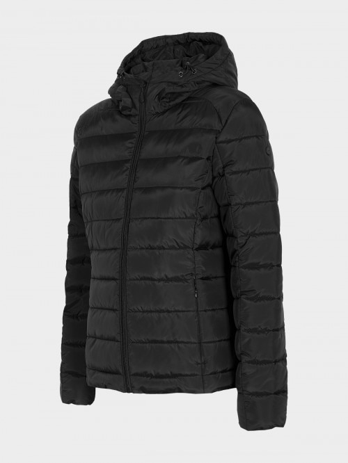 Women's down jacket KUDP602 - deep black