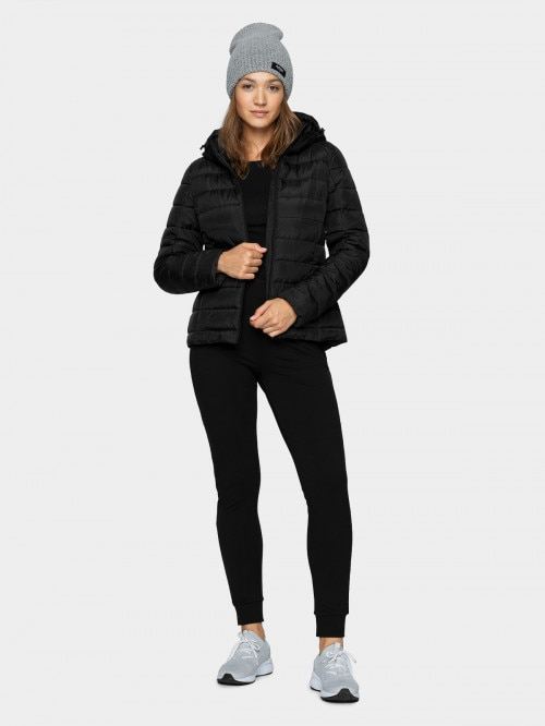 Women's down jacket KUDP602  deep black