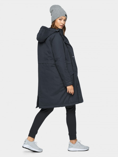 Women's urban coat KUD600 - dark blue