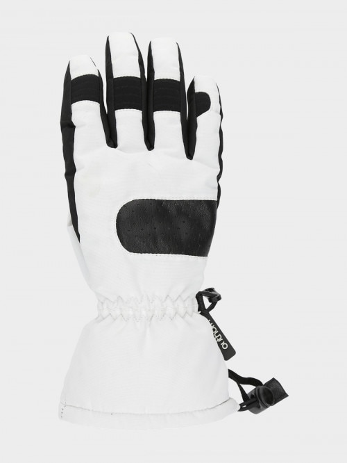 Women's ski gloves  RED601  white