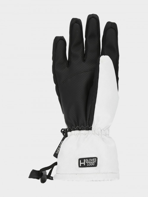 Women's ski gloves  RED601 - white