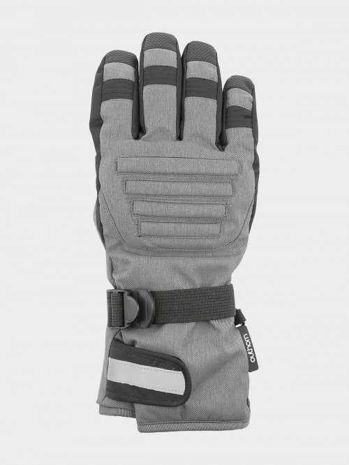 Men's ski gloves REM602  cold light grey melange