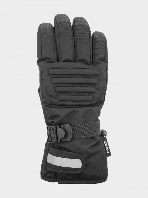 Men's ski gloves REM602  deep black