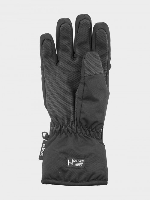 Men's ski gloves REM602 - deep black