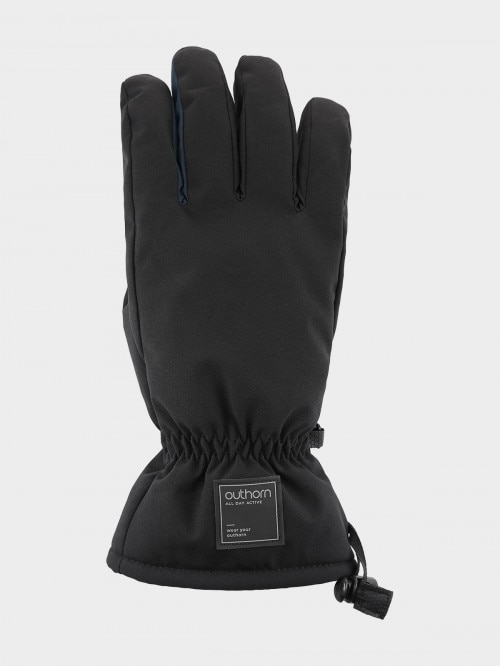 Men's ski gloves REM600  deep black