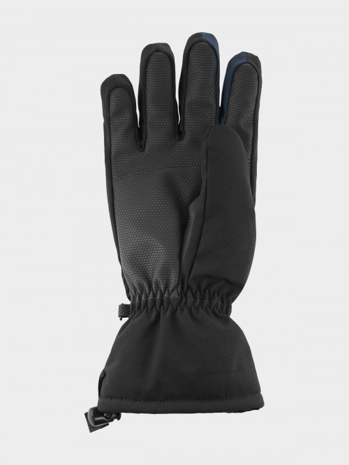 Men's ski gloves REM600 - deep black