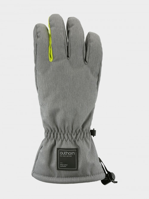 Men's ski gloves REM600   middle grey melange