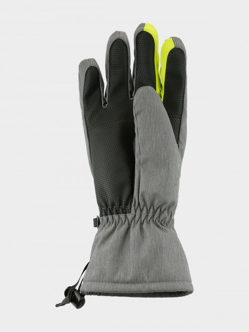 Men's ski gloves REM600  - middle grey melange