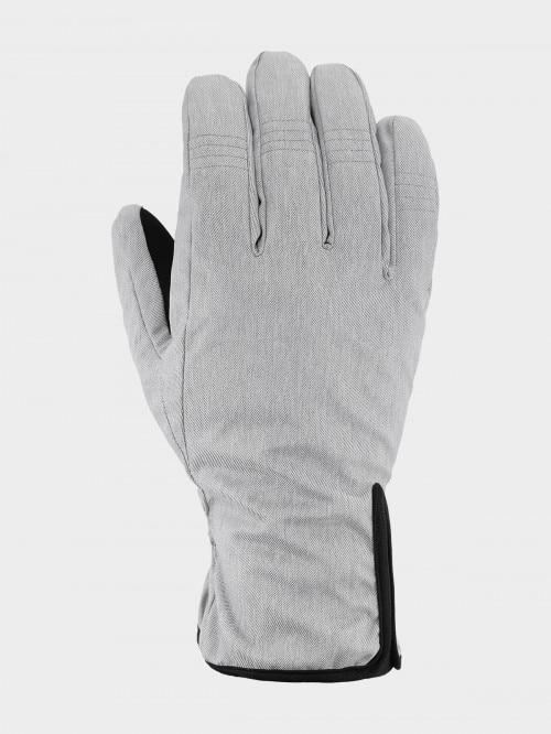 Unisex gloves REU604  cold light grey melange