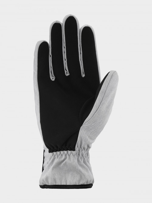 Unisex gloves REU604 - cold light grey melange