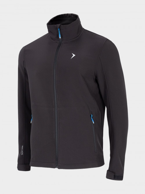 Men's softshell jacket  deep black