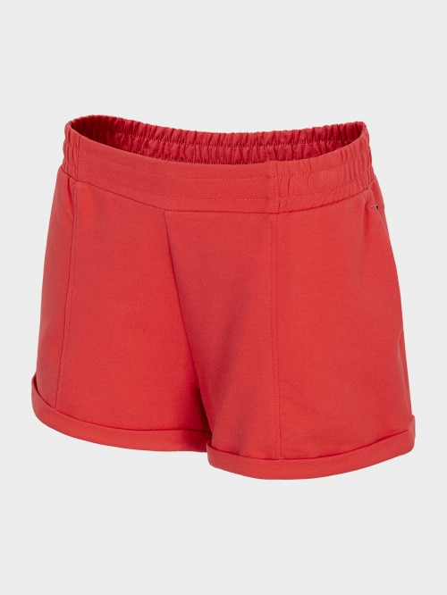 Women's knit shorts SKDD600 - red